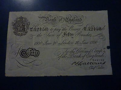 £50 fifty pound Bank of England 1930 Catterns probaly Operation Bernhard forgery