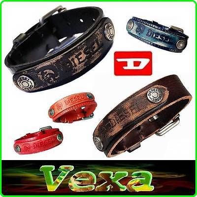 New Style DIESEL Leather Bracelet Bangle Wristband Mens Womens Jewelry Surfer UK