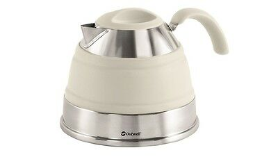 Outwell Collaps 1.5L Collapsible Camping / Campervan Kettle - Cream White