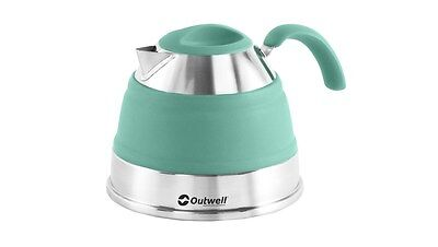 Outwell Collaps 1.5L Collapsible Camping / Campervan Kettle - Turquoise Blue