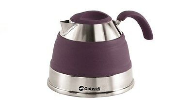 Outwell Collaps 1.5L Collapsible Camping / Campervan Kettle - Rich Plum