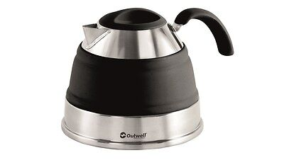 Outwell Collaps 1.5L Collapsible Camping / Campervan Kettle - Midnight Black