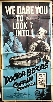 "Doctor Blood's Coffin 3-SH movie poster 41""x 81"" MONSTER Horror thriller 1961"