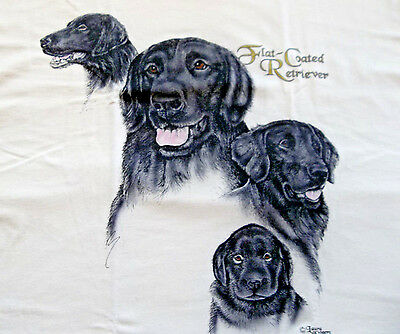 "Flat-Coated Retriever T-shirt  "" Natural "" XL ( 46 ~ 48 )"