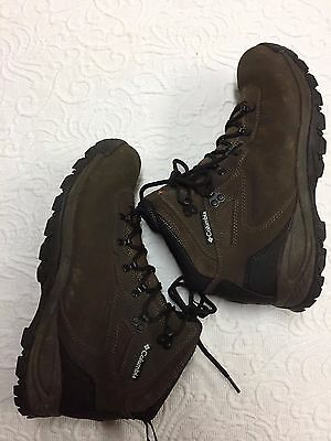 Columbia Men's Size 10 Wide  Brown Hiking Trail Boots with Omni Grip