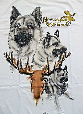 "Norwegian Elkhound #2  T-shirt "" Natural "" Large ( 42 ~ 44 )"
