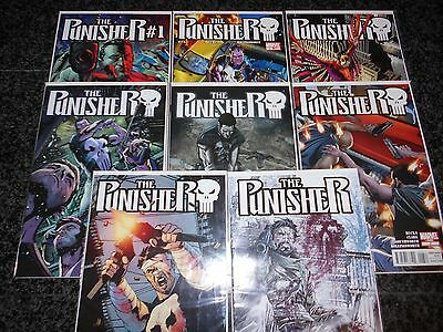 Punisher #1 - #8 (eight issue lot)