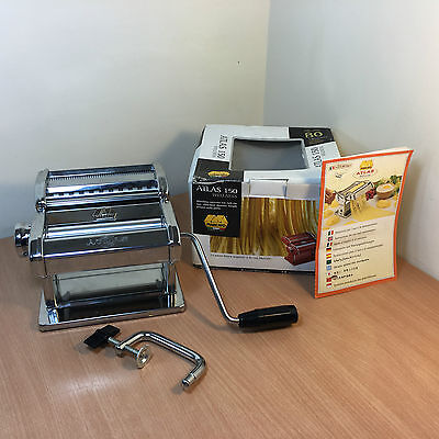 Marcato Atlas 150 Pasta Machine Chrome Silver Wellness Boxed Good Condition