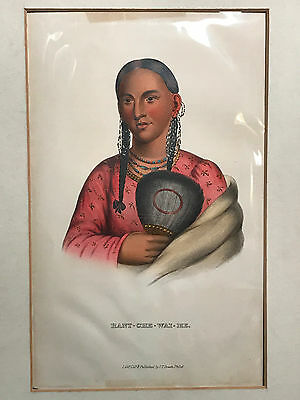 RANT-CHE-WA-ME ~ McKenney Hall, History of the Indian Tribes, J.T. Bowen 1848