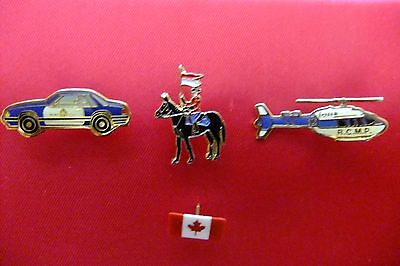 Three Royal Canadian Mounted Police Unique Lapel Pins