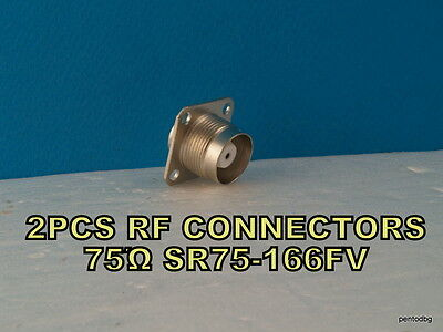 2 PCS RF COAXIAL CONNECTOR PANEL 75Ώ SR75-166FV PTFE 0-10GHz SOVIET MILITARY