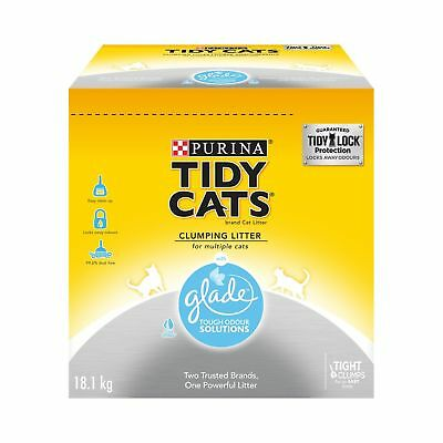 Purina Tidy Cats with Glade Clumping Cat Litter 18.1kg Box