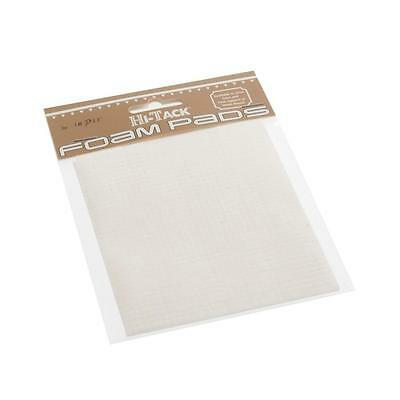 3D Hi-Tack 3mm Square White Glue Sticky 400 Pads Card Making Crafting 3mm Thick