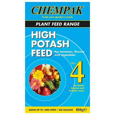 Chempak 4 High Potash Soluble Feed 800g for better blooms and bumper crops