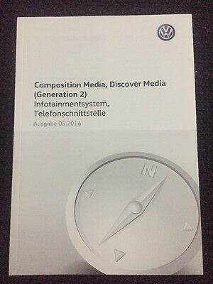 VW COMPOSITION MEDIA / DISCOVER MEDIA (Generation 2) 2016 Betriebsanleitung 2016