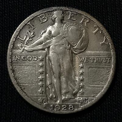 1928-S Standing Liberty Quarter 25C, **XF+/AU** EYE APPEAL!  Gorgeous!