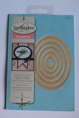 Spellbinders Nestabilities Classic Ovals Large - S4-110 - New - Please Read.
