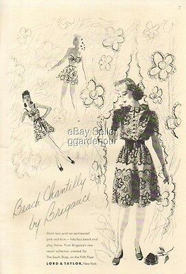 1941 Beach Chantilly ~ Brigance Swim Suit ~ Lord Taylor Ad Vintage 1940s  MMXV
