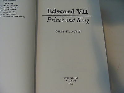 King Edward VII Prince and King 1979 Giles St Aubyn Royal biography
