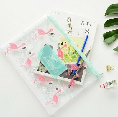 Lovely Flamingo A4 A5 B6  File Bag Document Bag A4 File Folder Stationery Filing