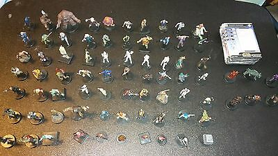 Star Wars Miniature 76 Different Mini with cards!