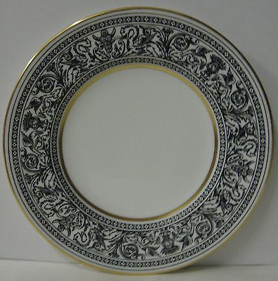 "Wedgwood  FLORENTINE BLACK W4312  Bread Plate (6-1/8"") BEST! More Available"