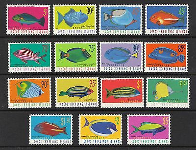 STAMPS  AUSTRALIA COCOS (KEELING) ISLAND 1995 5c to  S5,-  FISH   MNH lot 861