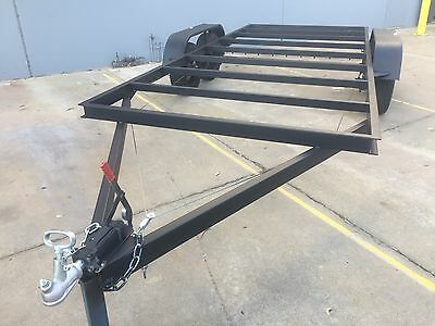 BRAND NEW Car Trailer CHASSIS Tandem axle 16X6.6FT  USE4 RACE NO RAMPS OR PAINT