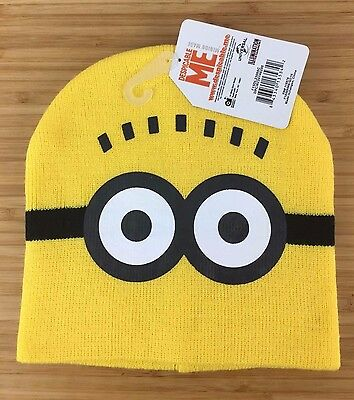 New Kids One Size Despicable Me Minions Dave the Minion Beanie Cap Polyester