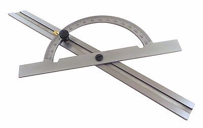 "Taytools 12"" Protractor Hardened Steel Angle Finder Miter Gauge Sliding Bevel"