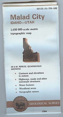 US Geological Survey topographic map metric Idaho-Utah MALAD CITY 1984 -