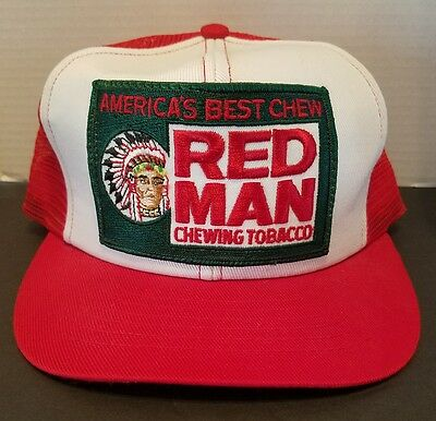 2ddd31be Rare Vintage Redman Chewing Tobacco Patch Mesh Trucker Snapback Hat Cap