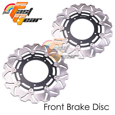 Racing Front Brake Disc Rotor x2 For YAMAHA YZF R1 1000 2004 2005 2006