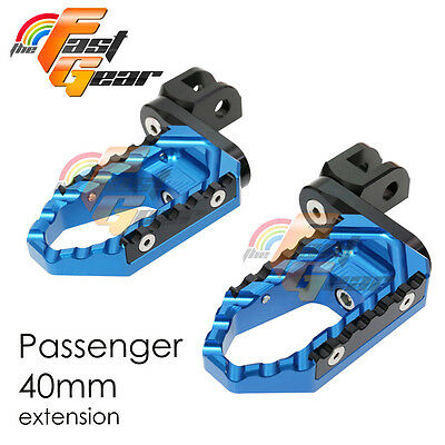Multi Step Blue 40mm Tour Rear Foot Pegs Fit Ducati Monster 695 All year