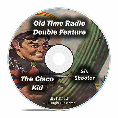 Six Shooter + The Cisco Kid, 474 Classic Old Time Radio Shows, Complete DVD F87