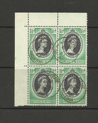 Nigeria ~ 1953 Coronation Qe Ii (Used Block 4)