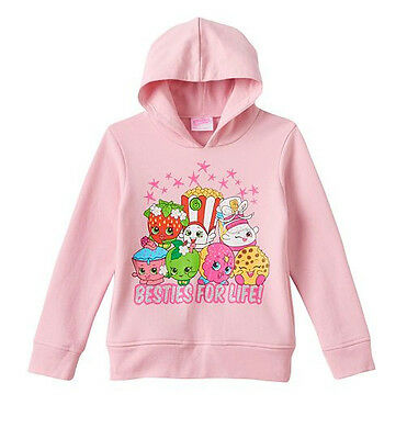 Shopkins Girls Size 4 Pink Hooded Sweatshirt Hoodie New With Tags