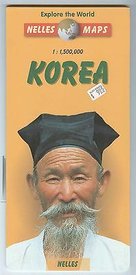Nelles Maps KOREA - North and South double-sided - Explore the World Series