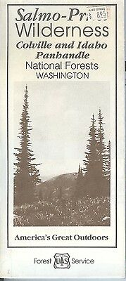 USDA Forest Service map Salmo-Priest Wilderness Colville Idaho Panhandle NF