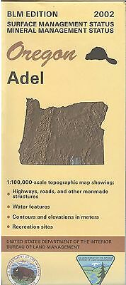 USGS BLM edition topographic map Oregon ADEL 2002 mineral