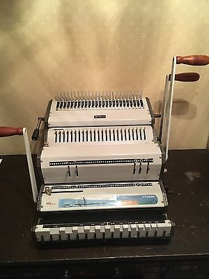 Akiles DuoMac-C41 Plastic Comb & 4:1 Coil Binding Machine Combs & Coils Included