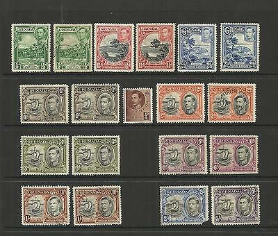 Grenada ~ 1938-50 King George Vi Definitives (Part Set)
