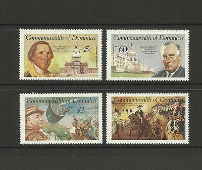 Dominica ~ 1982 George Washington & Franklin D. Roosevelt Anniversaries