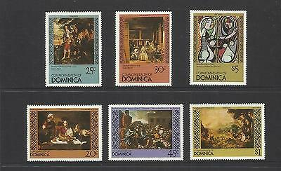 Commonwealth Of Dominica ~ 1980 Famous Paintings (Mint Mnh) Art