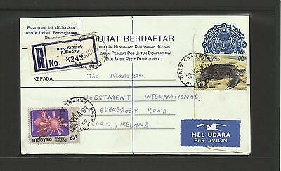 Malaysia ~ 1981 Registered Air Mail Cover To Ireland