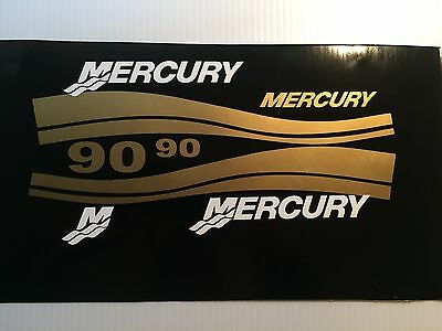 Mercury Outboard 25 - 225 HP Decal Kit,  Mercury outboard Gold Decal set
