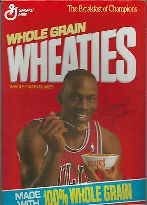 **michael Jordan Wheaties Box**nice**the Breakfast Of Champions**empty**