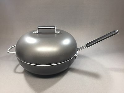 """Vollrath Pro_HG Commercial Grade Professional 11"""" Wok w/Lid, Made USA"""