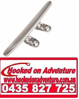 4 x Cleats Deck Stainless Steel 316 250mm