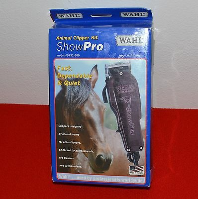 Wahl ShowPro Multi-Purpose Animal Clipper Kit #30-#15-#10 Horse Cow Pig New